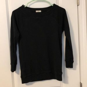 J.Crew black long sleeve shirt